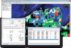 La interfaz de escritorio de mapeo le proporciona al usuario una interfaz de consulta y reporte totalmente interactiva tanto para las bases de datos maestras como de, en conjunto con un completo grupo de herramientas de administración de base de datos..