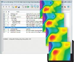 Los parámetro de generación de secuencias de comandos, bucles y mapas permite la automatización de flujos de trabajo repetitivos y la rápida investigación del efecto de variar los datos y generar simulaciones en el tiempo..