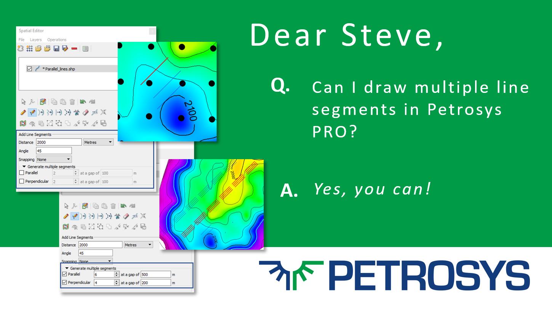 Dear Steve, Can I draw multiple line segments in Petrosys PRO?