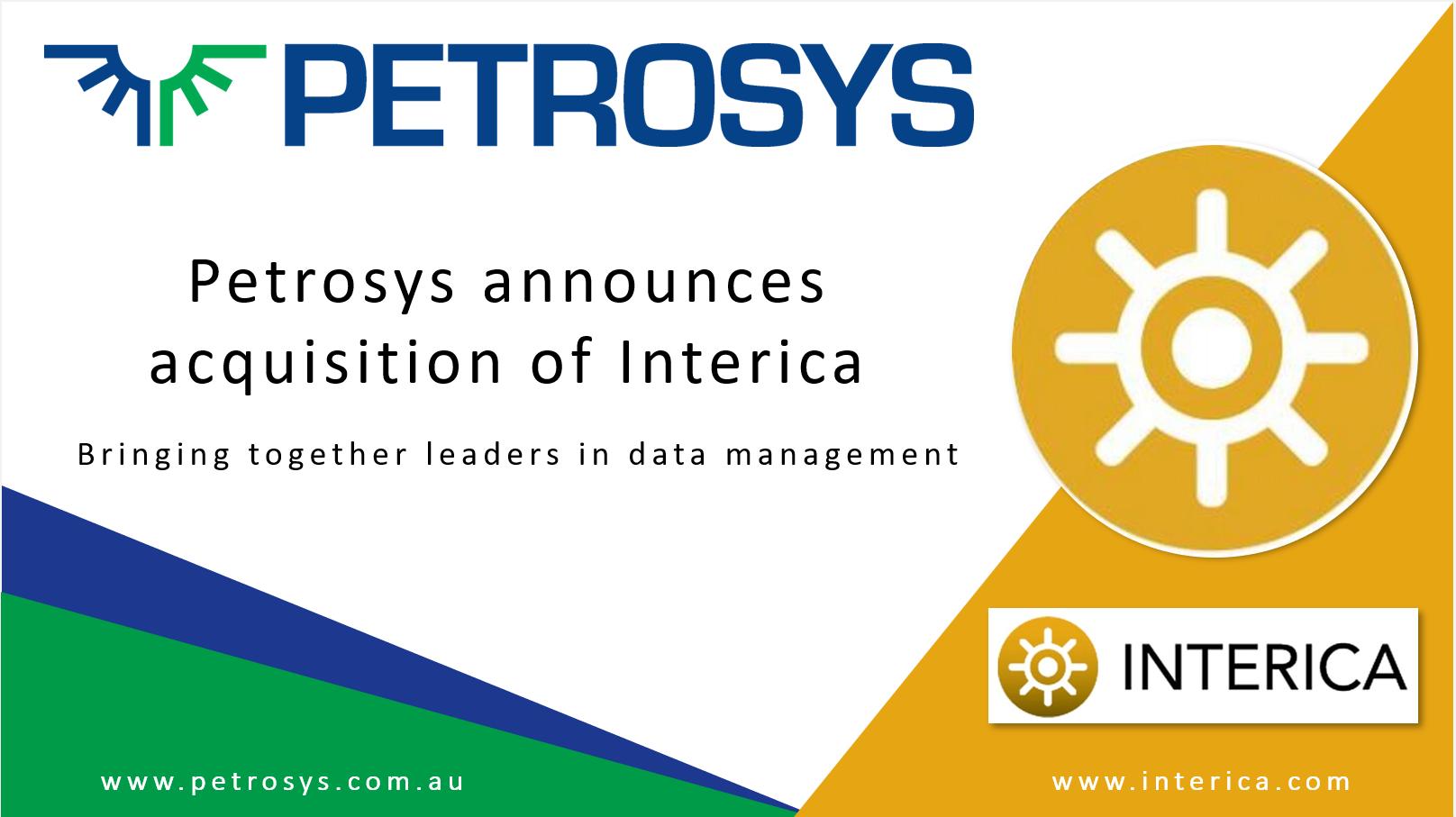 Petrosys Announces Acquisition – Interica