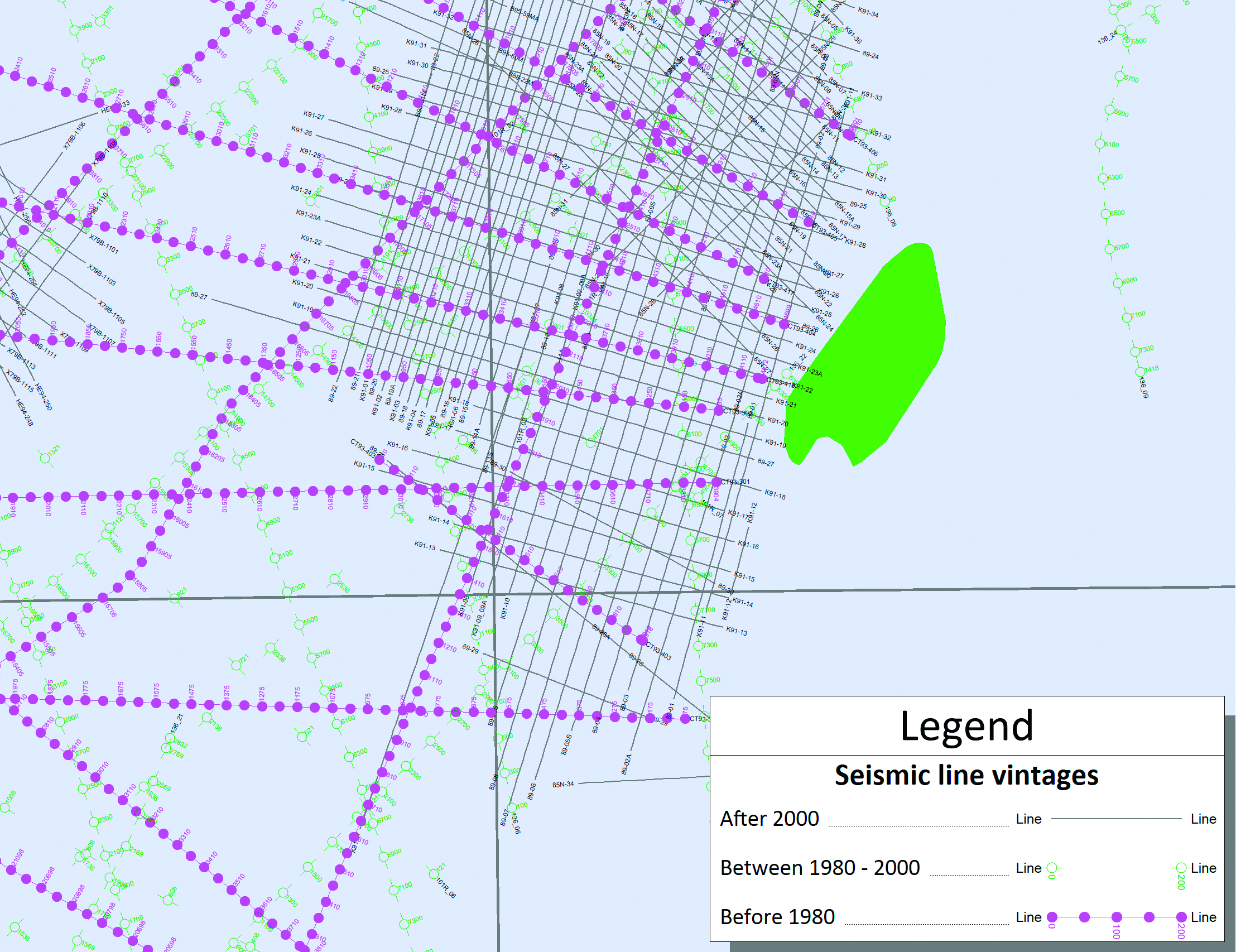 In conjunction with direct connections to popular seismic applications and Petrosys' established master storage of seismic navigation, Petrosys sets an industry standard for mapping of historical seismic data.